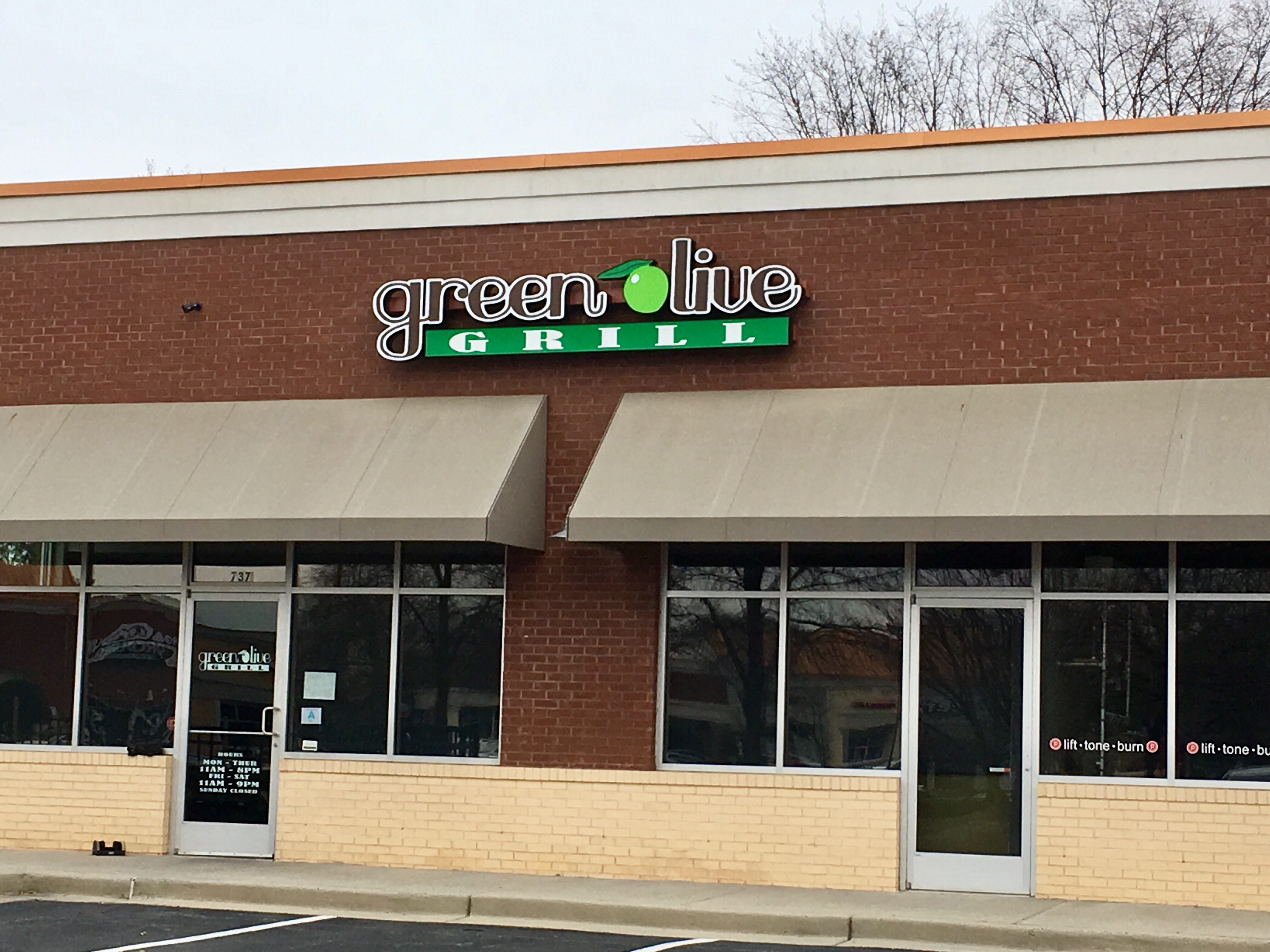 The exterior of Green Olive Grill, anew restaurant at the corner of SC 160 and Gold Hill road in Fort Mill.