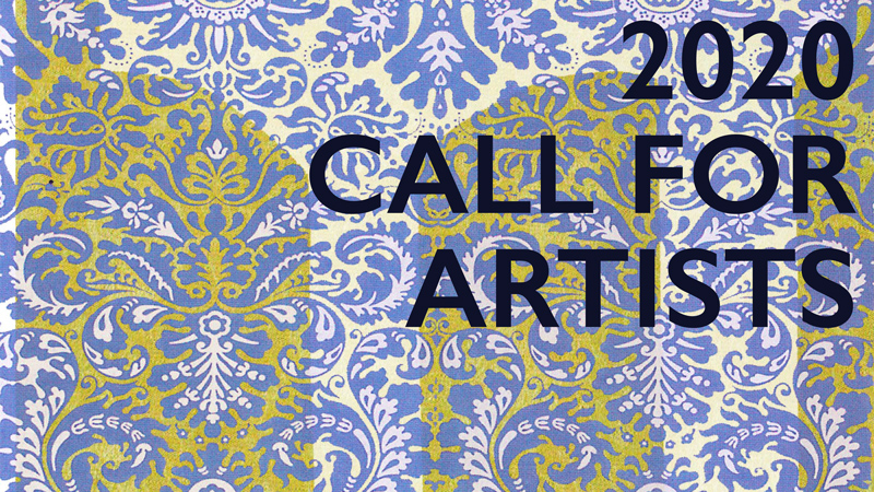 """the York County Arts Council Logo that says """"2020 Call for Artists."""""""